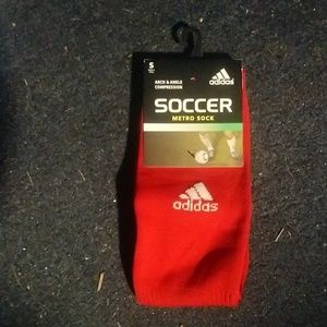Adidas red unisex compression soccer metro socks